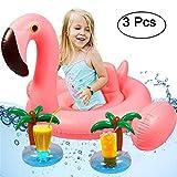 Tacobear Aufblasbarer Baby Schwimmsitz Baby Schwimmen Luftmatratze Schwimmring Schwimmhilfen Schwimmbad mit 2 Getränkehalter Pool Strand See Wasserspielzeug für Kinder (Flamingo)
