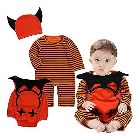 Baby Jungen Mädchen Halloween Set - Juleya Vampir Kostüm Langarm Kinder Bekleidungs Schlafanzüge Set