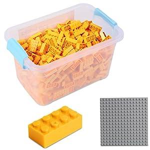 Katara Juego De 520 Ladrillos Creativos En Caja Con Placa De Construcción 100% Compatibles Con Lego Classic, Sluban, Papimax, Q-bricks, Color Amarillo (1827)