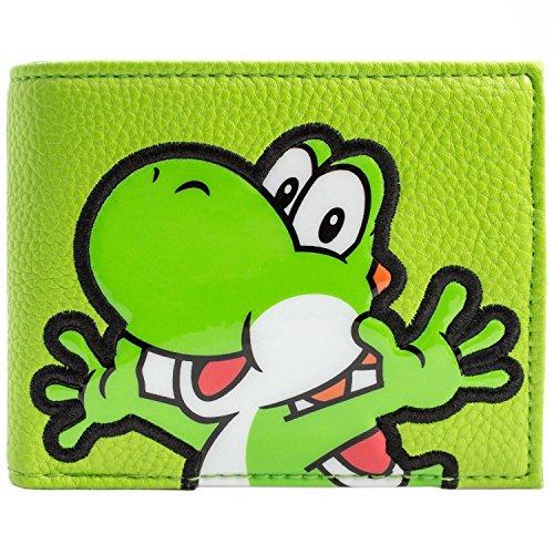 Super Mario World Yoshi Strukturierter Stil Grün Portemonnaie Geldbörse (Portemonnaie Strukturiertes Fach)
