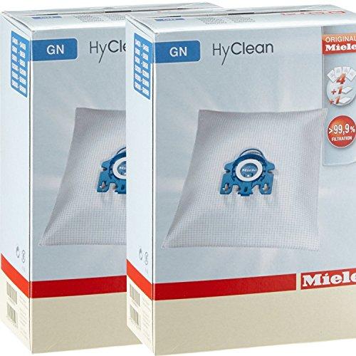 Miele HyCLean - Bolsas para aspiradores de Trineo, 4 Unidades x 2 Paquetes, 2 filtros incluidos, Color Blanco