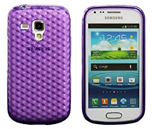 Luxburg® Housse Etui Coque Samsung Galaxy S Duos silicone case TPU Violet améthyste