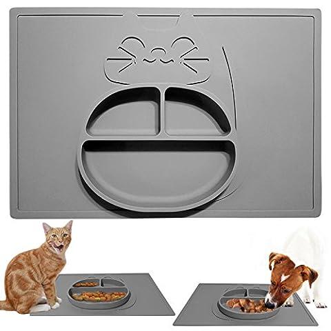 KittyMatBowl plateau de nourriture pour chat et bol en un