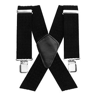 Aulola® Hosenträger für Herren, X-Form, verstellbare und elastische Hosenträger mit sehr starken Clips Gr. Einheitsgröße, Style C -5CM