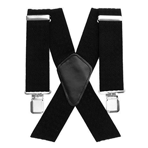 Aulola®, bretelle da uomo, forma a x, elastiche e regolabili, con ganci forti style c -5cm
