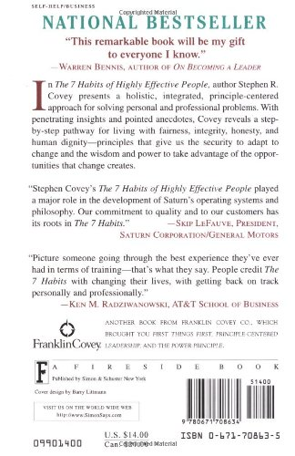 The Seven Habits of Highly Effective People: Restoring the Character Ethic (A Fireside book)