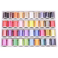 40 Colors Embroidery Threads DIY Craft Stitching Thread Kit Beginners Polyester Hand Machine Sewing Cord