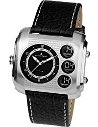 Jacques Lemans Herren-Armbanduhr XL Madrid Analog - Digital Quarz Leder 1-1780A