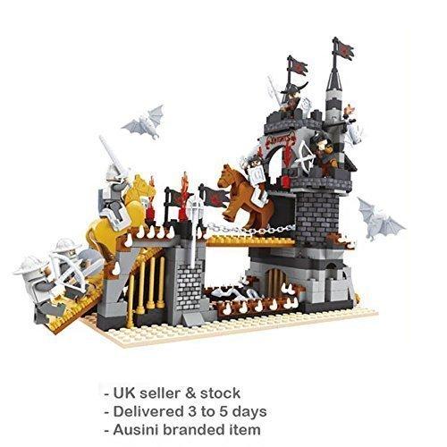 Acastilladas Bridge Torre Caballeros 6 combatientes 459pcs Sistema De La Caja compatible bricks #27701
