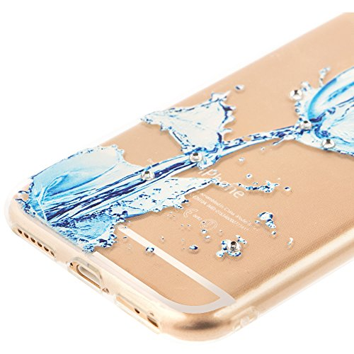 iPhone 7 Hülle Silikon,iPhone 7 Hülle Glitzer,iPhone 7 Crystal TPU Bumper Case Soft Transparent Silikon Gel Schutzhülle Cover,iPhone 7 Hülle (4.7 Zoll) Cristall,EMAXELERS iPhone 7 Bling Cristall Diama TPU 59