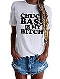 Nlife Frauen Mode Lässig Chuck Bass IST Meine Bitch Brief Print Kurzarm-Shirt Grundlegende T-Shirt