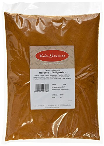 Eder Gewürze - Berbere/Grillgewürz - 1 kg, 1er Pack (1 x 1 kg)