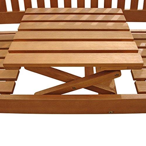 """Indoba Gartenbank, 3-Sitzer mit Klapptisch """"Sun Flair"""" – Serie, braun, 150 x 61 x 88 cm, IND-70032-GB3TI - 4"""