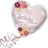 > > > Fertig Heliumbefüllt < < < Folienballon großes Herz rosa-rot mit Blumen-Motiv > Schön das es Dich gibt < Ballon mit Helium/Ballongas gefüllt Liebe Heiratsantrag Valentinstag von Haus der Herzen®