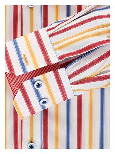 Venti Herren Businesshemd bügelfrei 100% Baumwolle - Slim Fit Multicolor