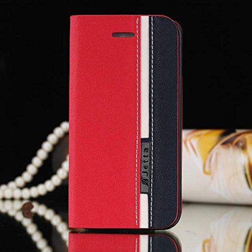 iPhone Case Cover Mischfarben-Fall-Abdeckung, Folio Standplatz-Fall mit Karten-Slot PU-Leder Etui für iPhone 4 4s ( Color : 3 , Size : IPhone 4 4s ) 4