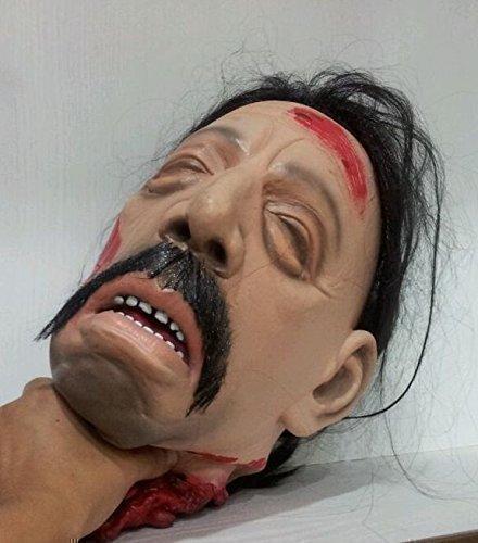 n TM 619219293174DURCHTRENNTE Kopf Halloween Dekoration mit befestigter Perücke realistisch blutig Horror Party Tisch Prop, Unisex, ONE SIZE (Halloween Köpfe)