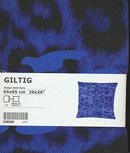 Ikea giltig 100% Baumwolle 66x 66cm Kissenhülle, blau und schwarz moderne abstrakte -