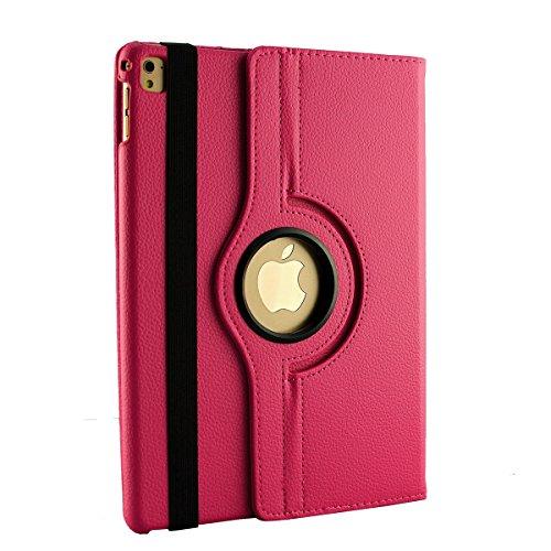inShang ipad Pro 12.9 inch Hülle Cover für iPad Pro 12.9 inch (2015) , PU Leder Schutzhülle St?nder Smart Cover mit Super Automatische Einschlaf-/Aufwach funktion, case 360 Grad rotierende Schutzhülle A rose