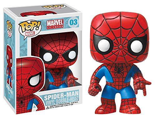 Image of Funko POP Movie: Marvel Universe Spiderman Bobble Head Vinyl Figure