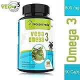 Potentveda Vega Omega 3 vegetarian rich algae extract DHA supplement for men