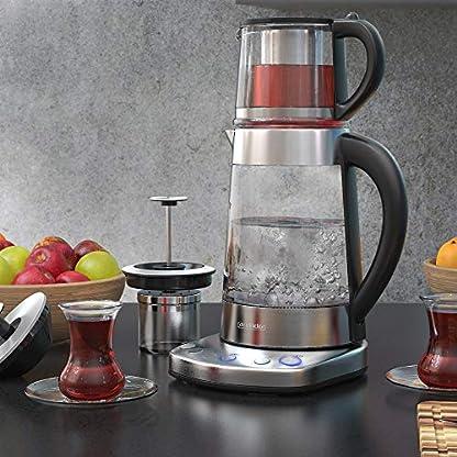 Arendo-Glas-Wasserkocher-mit-Temperatureinstellung-und-Teesieb-sowie-Aufsatz-Trkischer-Teekocher-Edelstahl-Temperaturen-70C-80C-100C-17-Liter-2400-Watt-Abschaltautomatik