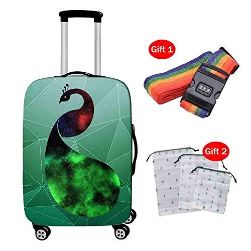 Suitcase Cover Copri Valigia Copertura Antiurto per Trolley da Viaggio Elastica Fantasia Custodia Antiurto da Viaggio per Animale Fantasia Anti-furto 18-28 Pollici,2,M