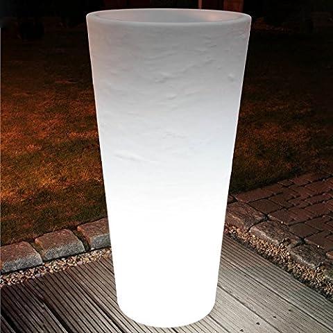 MIA Light decorativo vaso per fiori luce circa 100 cm/bianco, Indoor & Outdoor