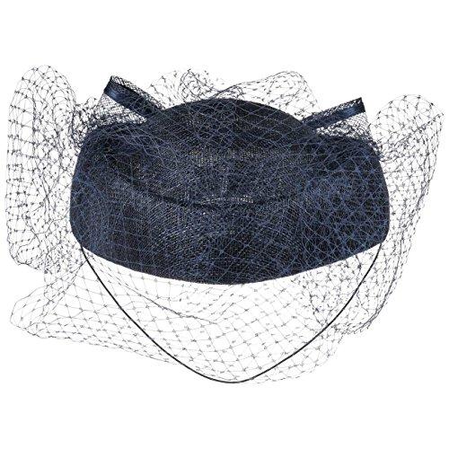 McBURN Cappello Pillbox con Veletta decorazioni capelli da donna Taglia  unica - blu scuro d2215a633169