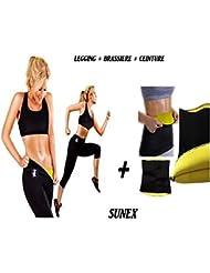 Panty Shaper de sudation + Brassière + Ceinture Sunex Taille M