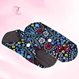 1PC Washable Wet Bag + 6PCS Reusable Bamboo Cloth Sanitary Menstrual Pads Menstrual Pads/Reusable Sanitary Pads
