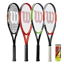 Wilson XL Series Tennis Racket inc 3 Tennis Balls (Various Models Available) (Advantage XL)