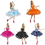 Kuulee Knee-length Wedding Pricess Elegant Lace Dress Set for Barbie/Pullip Doll/Jenny Doll Girls
