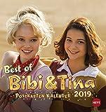Bibi & Tina - Postkartenkalender 2019 - Heye-Verlag - mit 12 heraustrennbaren Postkarten - 16 cm x 17 cm