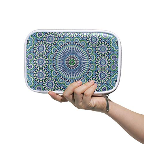 Mann Kosmetiktasche Marokko Nahtlose traditionelle arabische Islami Pen Pouchs Kulturbeutel Frauen Multifunktionale Make-up-Taschen für Mädchen für Männer Frauen
