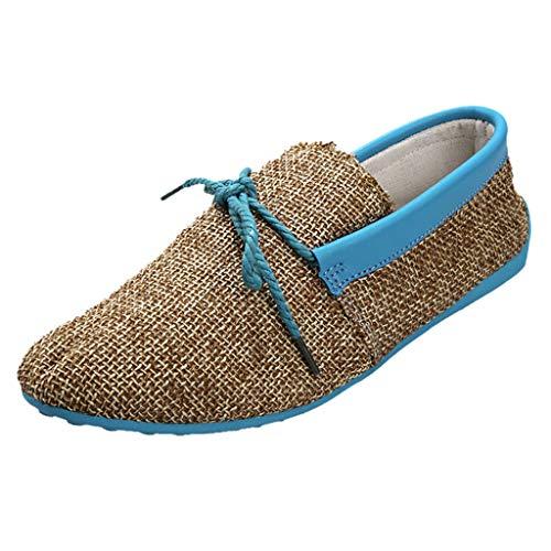 Lucky Mall Herren Mode Flache Einfarbige Schnürschuhe aus Canvas, rutschfeste Freizeitschuhe Männer Atmungsaktive Sandalen Sommer Lässige Schuhe Outdoor Strandschuhe - Dot Capri Hose Set