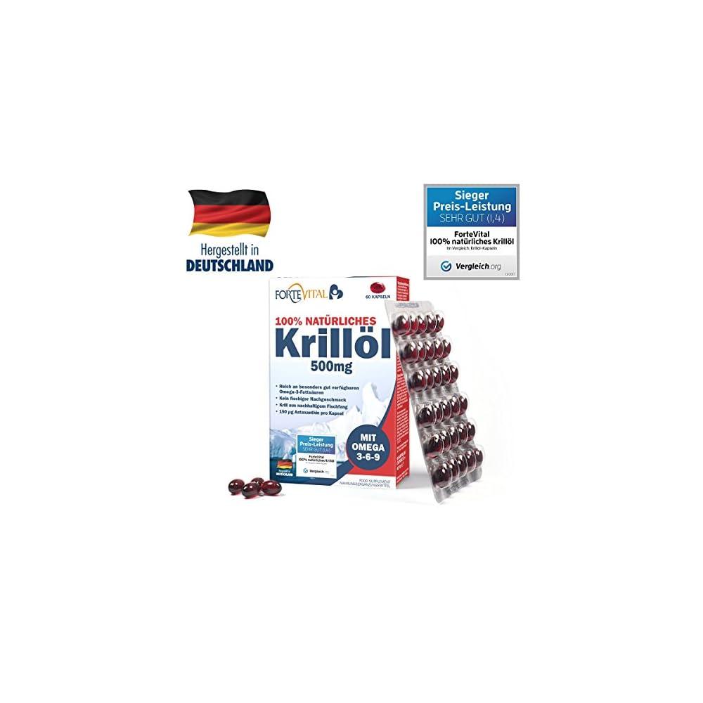 Natrliches Krill L 500mg Premium Mit Omega 3 Omega 6 Omega 9 60 Kapseln Krilll Mit 14 Mg Astaxanthin Pro 100g Hochdosiert Von Fortevital