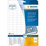 Herma 4211 Universal-Etiketten ablösbar, wieder haftend (25,4 x 16,9 mm auf DIN A4 Papier, matt, Movables) 2.800 Stück auf 25 Blatt, weiß, bedruckbar