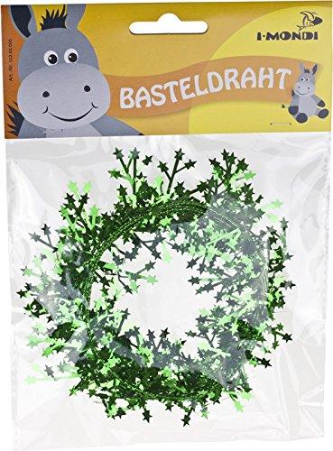 i-mondi Basteldraht mit Sternen, 1 Stück, Länge: 2,75 m, Grün