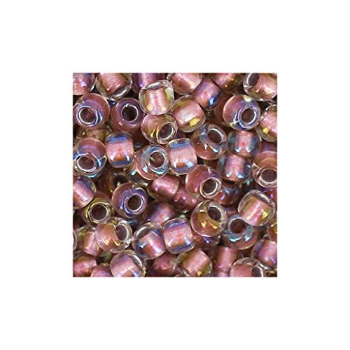 Toho Rocaille 11/0 TO11R267 - Crystal Rose Gold Lined x8g -
