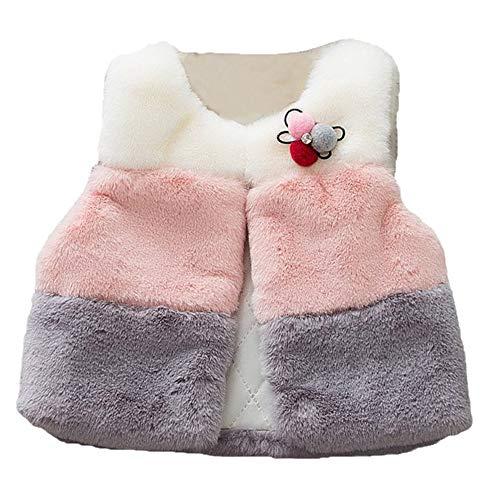 Kinder Mäntel Sunnydrain Kinder Jacken Reine Farbe Patchwork Fleece Unisex Winter Warm Herbst Kapuzen Outerwear Baumwolle Ärmellose