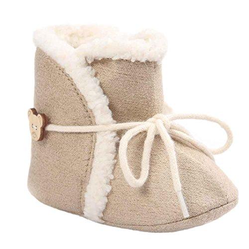 Für 0-18 Monate Baby,Amlaiworld Baby Schneestiefel weiche Sohle weiche Krippe Schuhe Kleinkind Boot Khaki