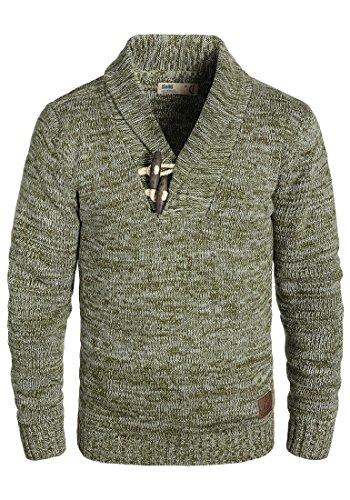 !Solid Prospero Herren Winter Pullover Strickpullover Grobstrick Pullover mit Schalkragen Meliert, Größe:L, Farbe:Ivy Green (3797) -