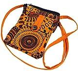 Guru-Shop Brustbeutel, Geldbörse - Orange, Herren/Damen, Baumwolle, Size:One Size, 17x13 cm, Börsen aus Stoff, Hanf & Brokat