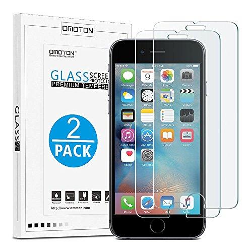 [2 Stück] OMOTON Panzerglas Bildschirmschutzfolie für iPhone 6s plus /iPhone 6 Plus, Anti-Kratzen, Anti-Öl, Anti-Bläschen, lebenslange Garantie