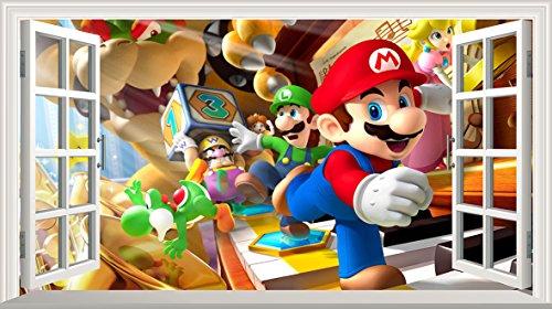 Super Mario Bros V101Magic ventana de póster de arte de la pared Ta