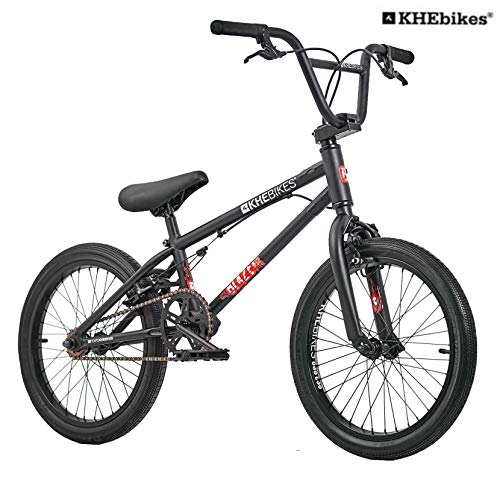 KHE BMX Fahrrad Blaze 18 Zoll schwarz-matt patentierter Affix 360° Rotor nur 10,2kg!