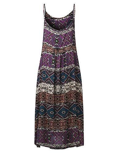 YFLTZ Damen Vintage/Basic Mantel/Swing Kleid - Geometrisch, Lavendel, S Vintage Swing Mantel