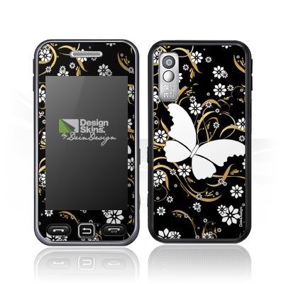 Samsung Star S5230 Case Skin Sticker aus Vinyl-Folie Aufkleber Schmetterling Blume (Ideen Costum)