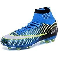 LSGEGO Bottes de Football pour Adultes Hautes Chaussures de Foot Professionnelles Chaussures de Formation Professionnelles Spike Chaussures de Plein Air Chaussures de Sport pour Adolescents